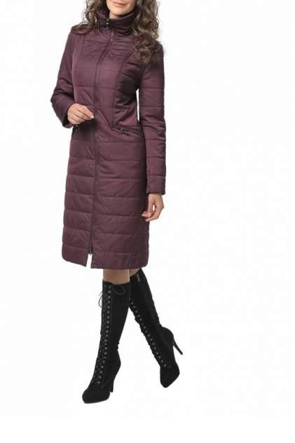 Пуховик-пальто женский DizzyWay 20108 фиолетовый 60 RU
