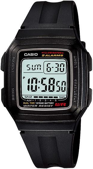 Наручные часы электронные мужские Casio Collection F-201WA-1A