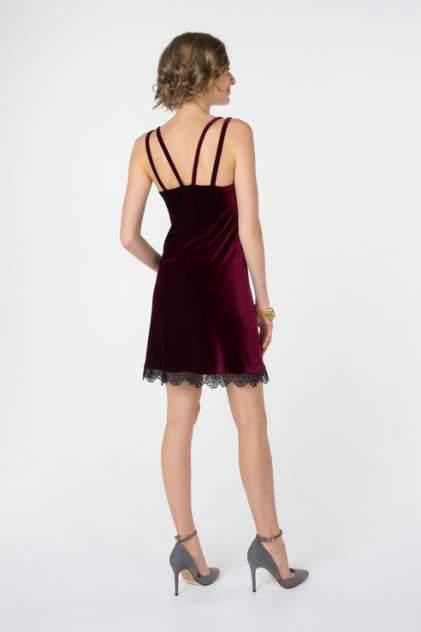 Платье-комбинация женское Fashion.Love.Story. 17FL1185 бордовое 40 RU
