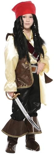 Карнавальный костюм Батик Джек Воробей, цв. коричневый р.128