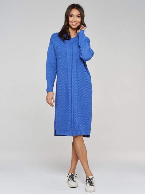 Платье женское VAY 192-2424 синее 54 RU