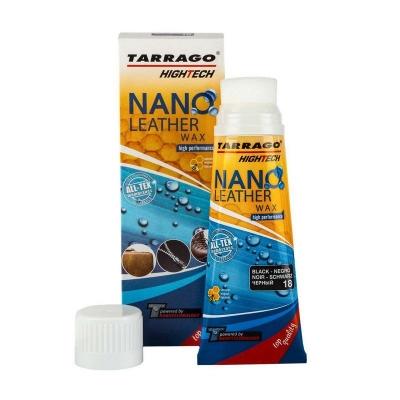 Крем тюбик с губкой TARRAGO NANO Leather WAX, 75мл. (черный), TGO22