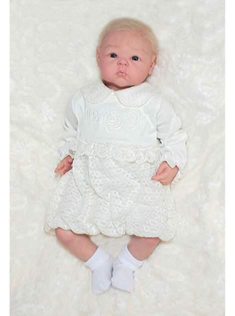 823-128КВ-22/68 Платье длин. рукав с вышивкой