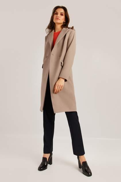Пальто женское Finn Flare B19-11007 коричневое M