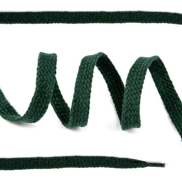 Шнурки для обуви плоские х/б 10мм х 150см темно-зеленые 10 комплектов