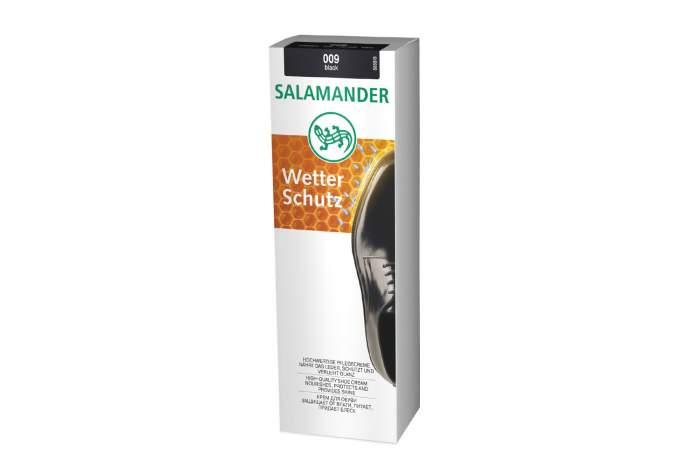 Крем для обуви Salamander wetter schutz черный 75мл