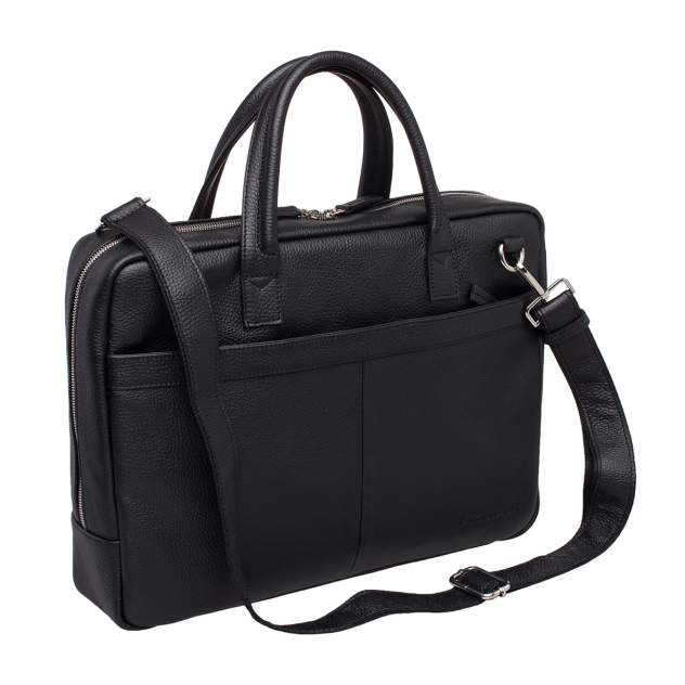 Портфель мужской кожаный Lakestone Carter черный