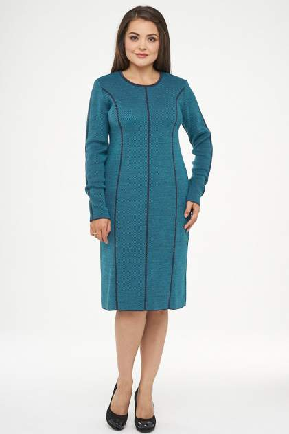 Платье женское VAY 182-2312 голубое 52 RU