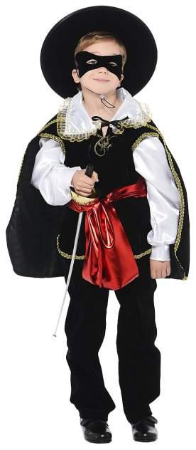 Карнавальный костюм Батик Зорро, цв. черный р.140
