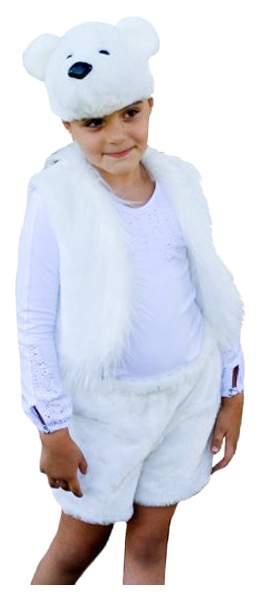 Карнавальный костюм Бока Медведь, цв. белый р.104