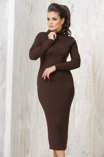 Платье женское VAY 2237 коричневое 46 RU