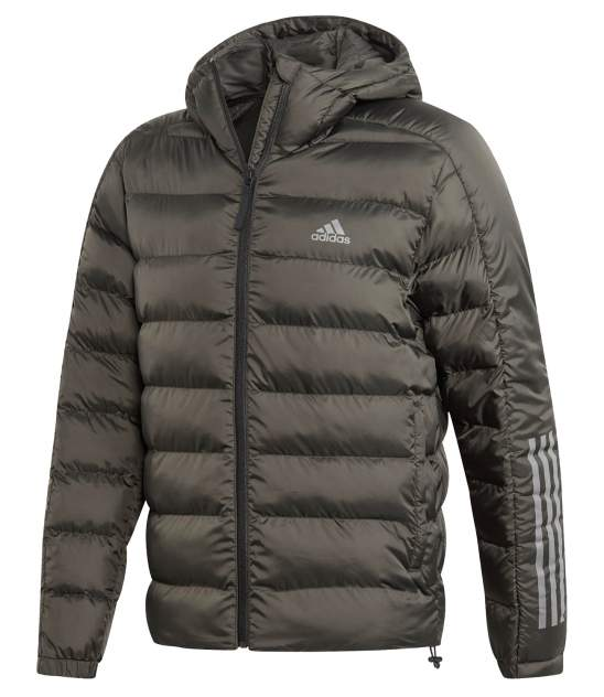 Куртка Adidas Itavic 3-Stripes 2.0 Padded Hooded FZ, legend earth/black, XL