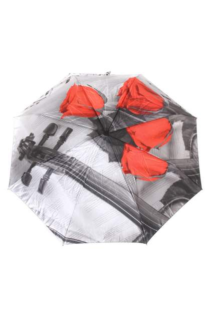 Зонт складной женский автоматический Flioraj 013-048FJ серый