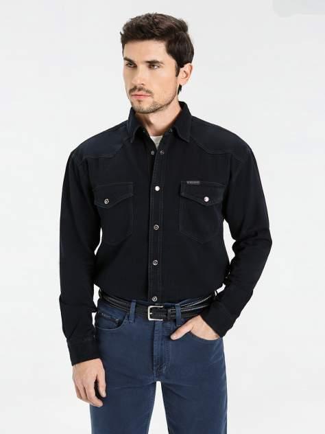 Джинсовая рубашка мужская Velocity PRIME 16-92D черная 3XL