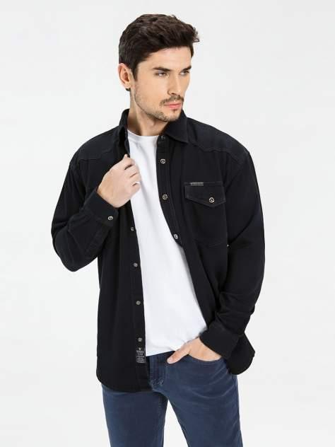 Джинсовая рубашка мужская Velocity PRIME 16-92D черная XXL