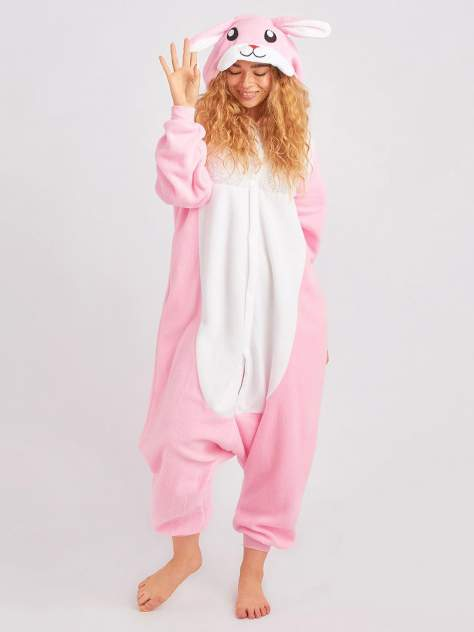 Кигуруми BearWear Кролик розовый, розовый