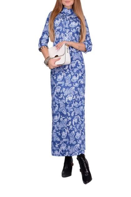 Платье женское FRANCESCA LUCINI F0812-7 синее 48 RU
