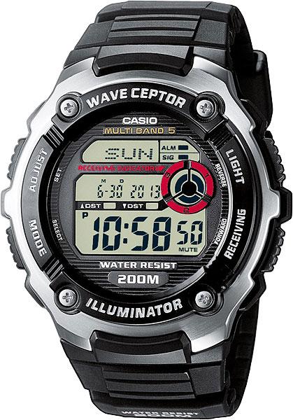 Наручные часы электронные мужские Casio Illuminator Radio Controlled WV-200E-1A