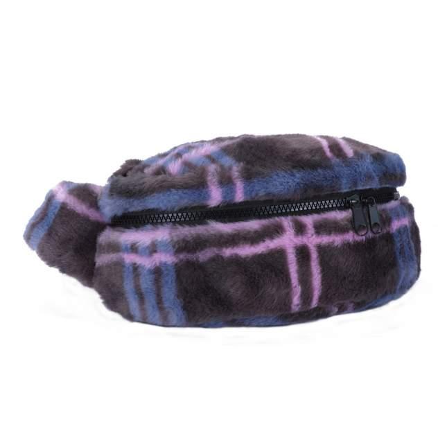 Поясная сумка женская PW-936 клетка серо-голубая