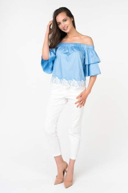 Блуза женская ZARINA 8226110310041 голубая 44 RU