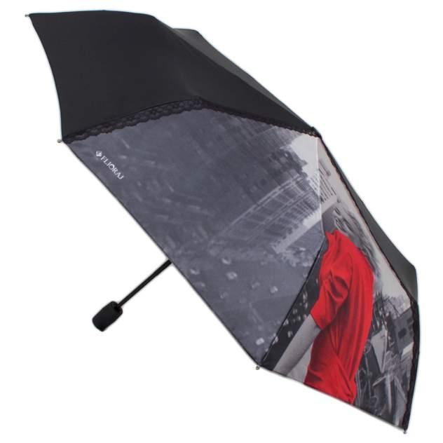 Зонт складной женский автоматический Flioraj 20104 FJ черный