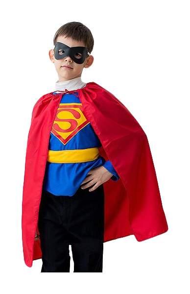 Карнавальный костюм Бока Супермен, цв. красный; синий р.122