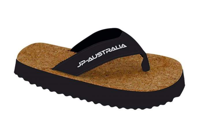 Шлепанцы мужские JP Beach Sandals Cork черные 8 US