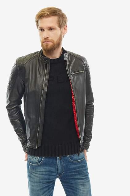 Мужская кожаная куртка Replay M8032.83056.010, черный