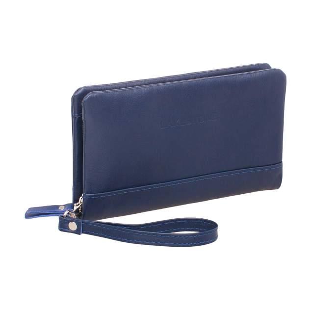 Клатч мужской кожаный Lakestone Crispin синий