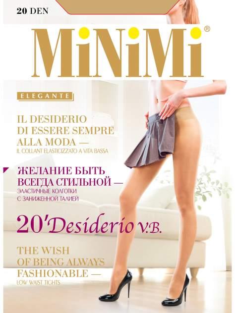 Колготки MiNiMi DESIDERIO 20 VITA BASSA, caramello min, 2/S
