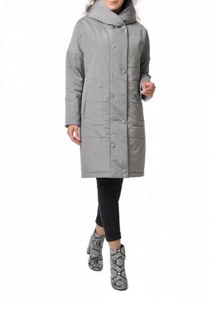 Пуховик-пальто женский DizzyWay 20112 серый 60 RU