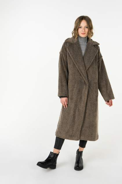 Шуба женская Ennergiia 18101020001 коричневая XL