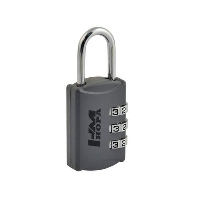 Замок навесной кодовый Нора-М 502 для чемодана - Серый - 23 мм