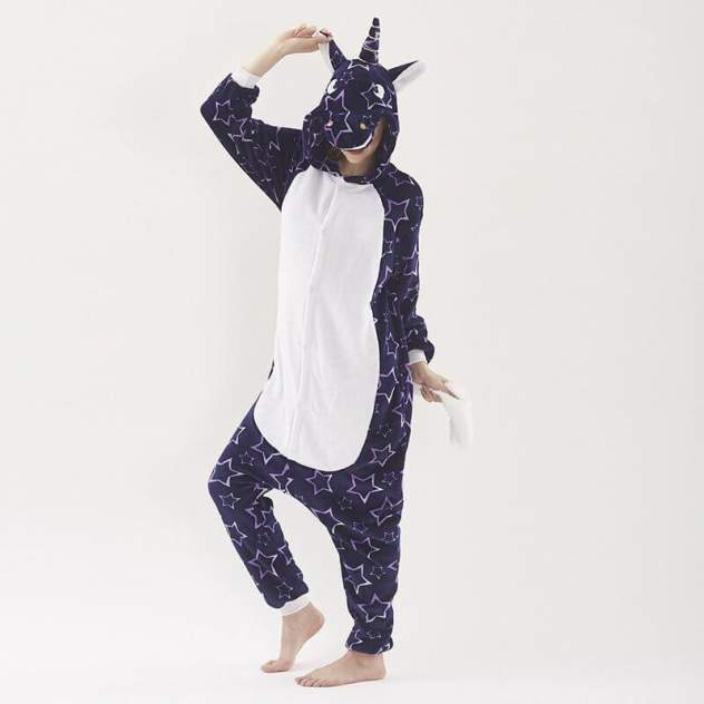 Кигуруми Multi-Shops Единорог Звёздный Ночной, фиолетовый