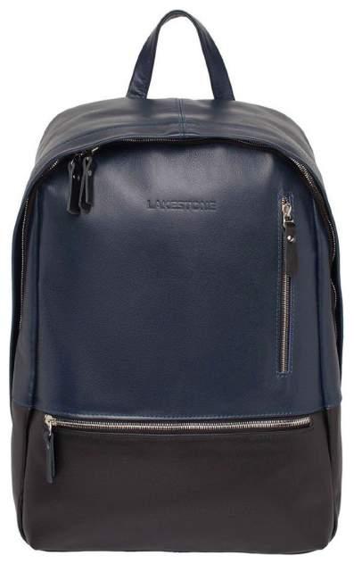 Рюкзак кожаный Lakestone Adams синий 14 л
