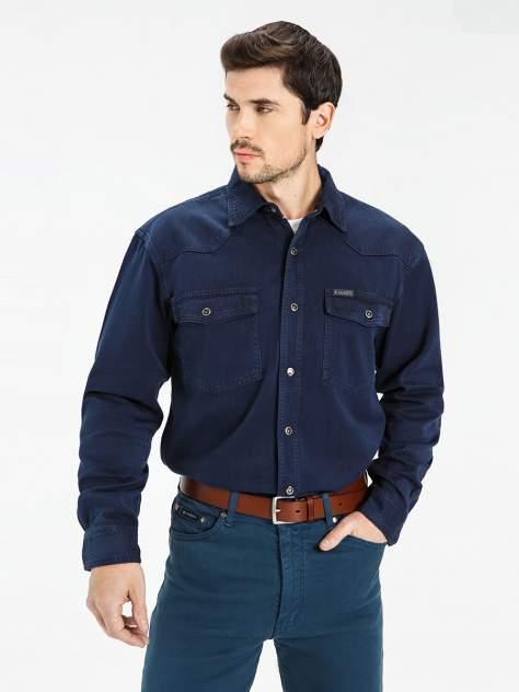 Джинсовая рубашка мужская Velocity PRIME 16-V34 синяя 3XL