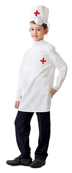 Карнавальный костюм Бока Доктор, цв. белый р.104