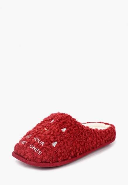 Домашние тапочки женские Halluci Hug your loved ones красные 38-39 RU