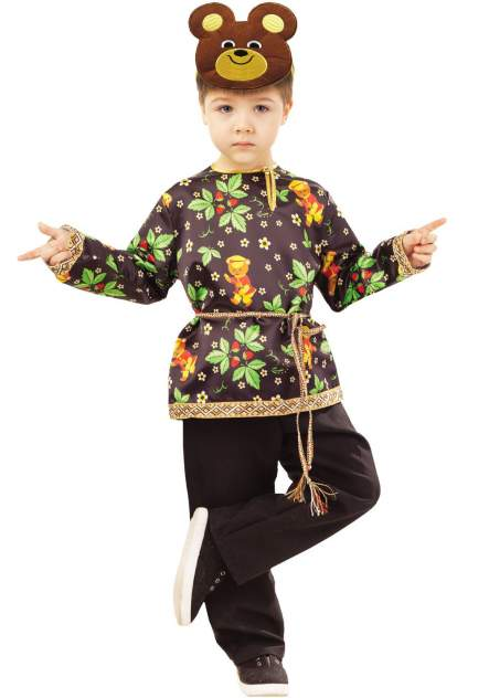 Карнавальный костюм Батик Медведь, цв. коричневый р.104