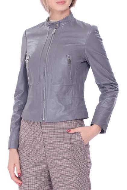 Кожаная куртка женская LUSIO AF18-050004 серая M