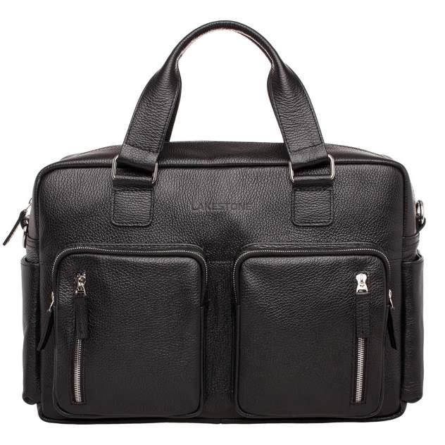 Портфель мужской кожаный Lakestone Kingston черный