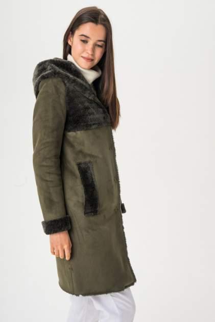 Дубленка женская ElectraStyle 3-7121-211/212 зеленая 40 RU