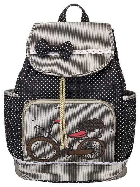 Рюкзак детский Action! мягкий39х28х15 см с принтом Велосипед