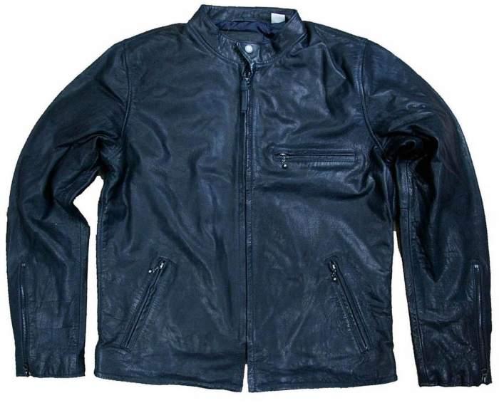 Мужская кожаная куртка Levi's Moto Jacket, синий