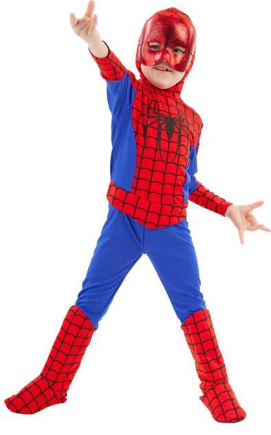 Карнавальный костюм Батик Человек-Паук, цв. красный; синий р.110