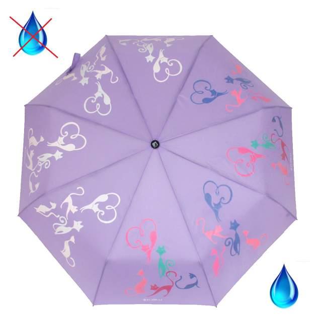 Зонт складной женский автоматический Flioraj 210614 FJ фиолетовый