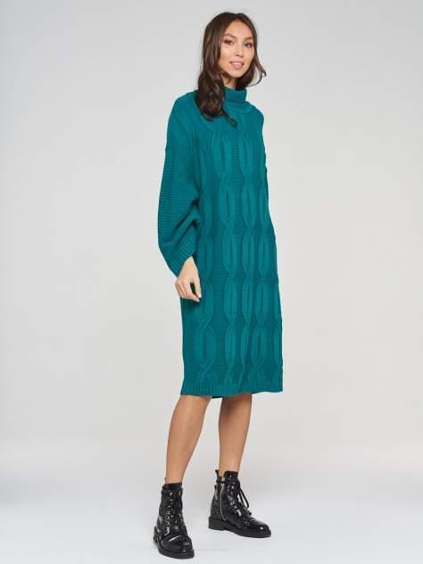 Платье женское VAY 202-2430 зеленое 50 RU