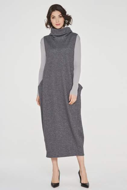 Платье женское VAY 182-3458 серое 56 RU