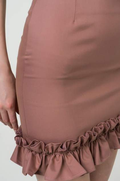 Юбка женская Fashion.Love.Story. 18SP6032 коричневая 40 RU