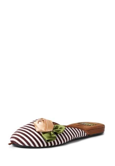 Домашние тапочки женские Smile of Milady 01107460 коричневые 36 RU